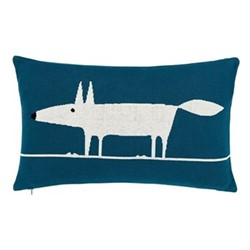 Mr Fox Cushion, L30 x W50 x H10cm, blue
