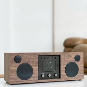 Duetto Smart speaker, L37 x W19 x H14.2cm, walnut black