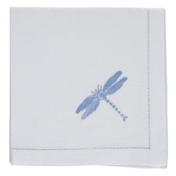 Dragonfly Set of 4 napkins, 45 x 45cm, blue cotton