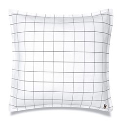 Baxter Square pillow sham, 65 x 65cm, charcoal