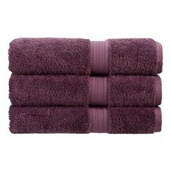 Renaissance Pair of bath towels, 76 x 142cm, berry