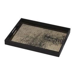Heavy Aged Heavy aged bronze mirror tray - rectangular - small, W46 x H36 x D4cm, bronze