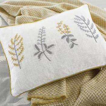Paper Doves Cushion, L40 x W30 x H10, mineral grey