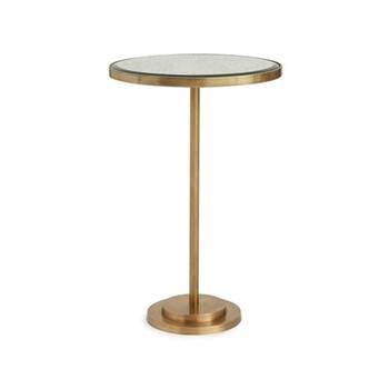 Cinema Side table, L46 x W33 x H69cm, brass