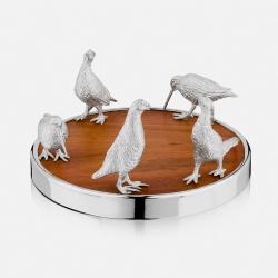 The Highland Safari Collection Coaster, D14 x H7cm, Game Birds
