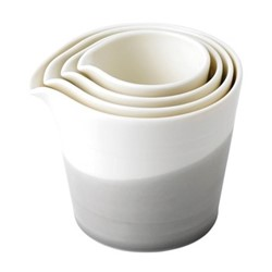 Bowls of Plenty Set of 4 nesting jugs, brown/grey