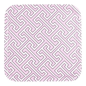 Maze Square tray, 32 x 32cm, pink