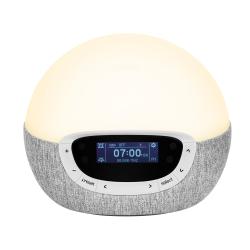 Bodyclock Shine 300 Alarm clock, H18 x W21 x D12cm, Silver/Grey