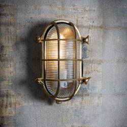 Devonport Bulk head light, Brass