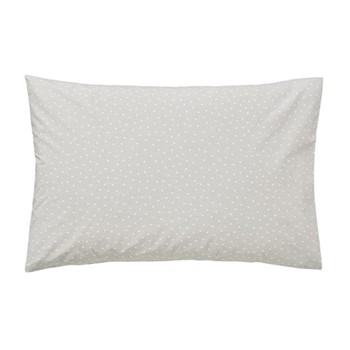 Paper Doves Pair of standard pillowcases, L48 x W74cm, mineral grey