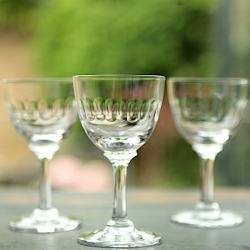 Lens Set of 6 liqueur glasses, 80ml, Crystal