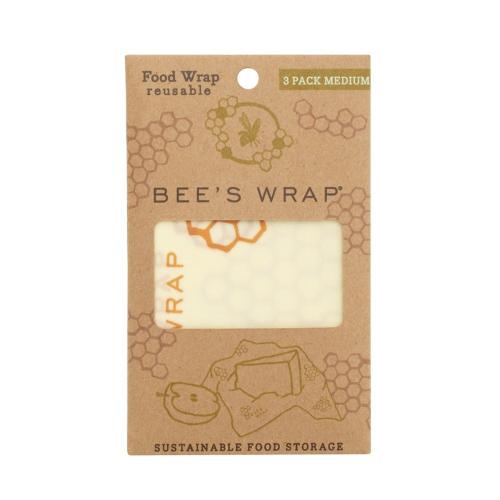 Bee's Wrap Print Pack of 3 medium food wraps, 25 x 28cm