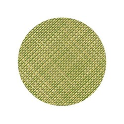 Mini Basketweave Set of 4 round coasters, 10cm, dill