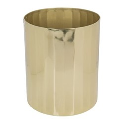 Antique Gold Waste bin, H24 x W20.5 x D20.5cm