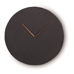 Miner Wall clock, W35 x H35 x D6cm, slate and copper