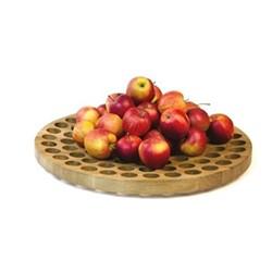Geo Fruit bowl, H4.5 x W50cm, oak