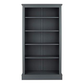 Milne Bookcase, H164 x W89 x D30cm, dark grey