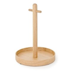 Cookhouse Round tray, H35.4 x Dia25.4cm, natural oak