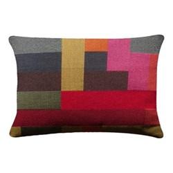 Assembly Rectangle cushion, 38 x 56cm, multi-coloured