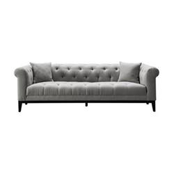 Fiorella Large sofa, W232 x H72.5 x D98cm, grey/black