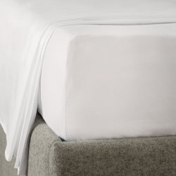 Savoy - 400 Thread Count Egyptian Cotton Double deep fitted sheet, W140 x L190 x D34cm, White