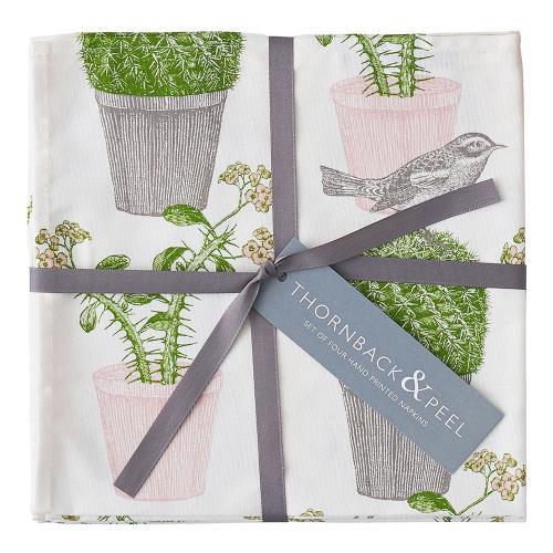 Cactus & Bird Set of 4 napkins, 45 x 45cm