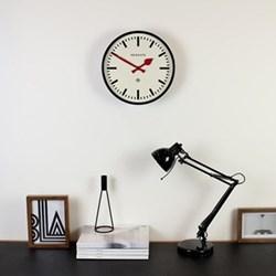 Station Wall clock, 30 x 30 x 7cm, black