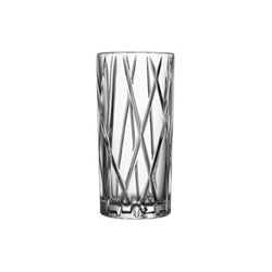 City Set of 4 highball glasses, 37cl - H15 x W7.2cm, glass