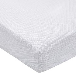 Mya Super king size fitted sheet, L200 x W180 x H34cm, sky blue