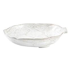 Artichoke Pair of pasta plates, 28.2 x 23.7cm, white