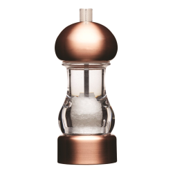 Filled capstan salt mill, 14.5cm, copper effect