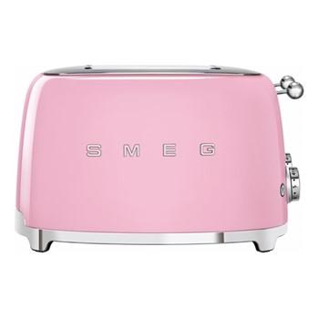 50's Retro 4 slice toaster - 4 slot, pink