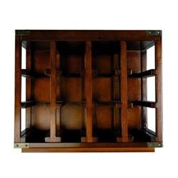 Unit #3 Bottle rack, H42 x W30 x L50cm, honey distressed pine
