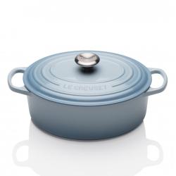 Signature Cast Iron Oval casserole, 25cm - 3 litre, Coastal Blue