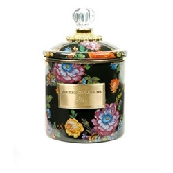 Flower Market Canister, small, black