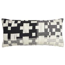 Pennan Oblong cushion, L60 x H31cm, black/white