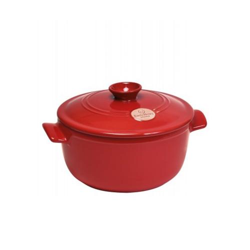 Round casserole with lid, 22 x 22 x 15cm - 2.5 Litre, Burgundy