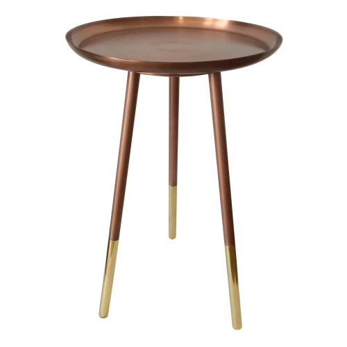 Small round table, H52cm x Dia31cm, Copper