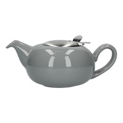 Pebble 2 cup teapot, H7 x D12cm, light grey