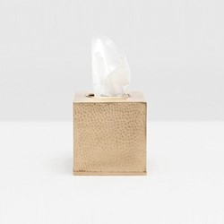 Verum Tissue box, H13cm, antique brass