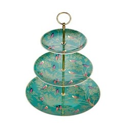 Chelsea Collection 3 tier cake stand, turquoise