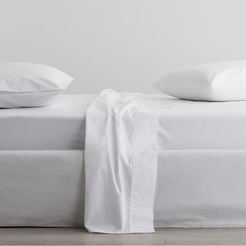 300 Organic Percale Pair of standard pillowcases, 50 x 75cm, Snow