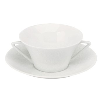 Seychelles Soup cup and saucer, 25cl, white
