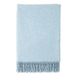 Cashmere throw, 190 x 140cm, vintage blue
