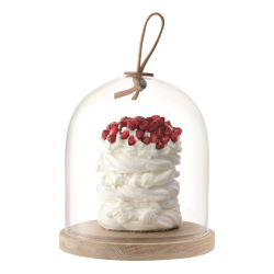 Ivalo Dome with ash base, H15.5 x D15cm, clear