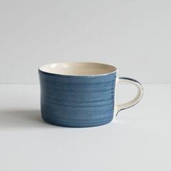 Plain Wash Set of 6 mugs, H7 x W10.5cm, eggplant