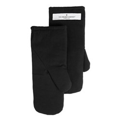 Canvas Small oven mitts, 13 x 27cm, black