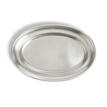 Audley Small oval platter, silver plated