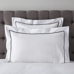 Savoy - 400 Thread Count Egyptian Cotton Oxford pillowcase, 50 x 75cm, Navy