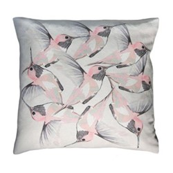Rose Hummer Grey Cushion, L45 x W45cm, multi grey